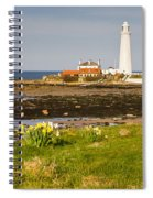St Marys Lighthouse With Daffodils Spiral Notebook