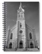 St. Mary's Of Port Washington  B-w Spiral Notebook
