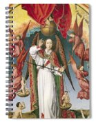 St. Michael Weighing The Souls, From The Last Judgement, C.1445-50 Oil On Panel Detail Of 170072 Spiral Notebook