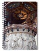St Nicholas Church Pulpit In Amsterdam Spiral Notebook