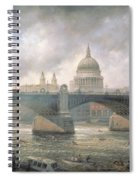 St. Paul's Cathedral From The Southwark Bank Spiral Notebook