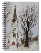 St. Pauls Church In Barton Vt In Winter Spiral Notebook