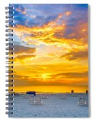 St. Pete Beach Sunset Spiral Notebook