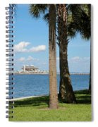 St Pete Pier Through Palm Trees Spiral Notebook