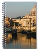 St Peter Morning Glow - Impressions Of Rome Spiral Notebook