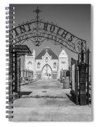 St Roch's Cemetery Bw Spiral Notebook