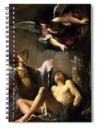 St. Sebastian Succoured By Two Angels Spiral Notebook