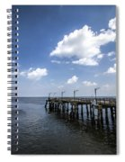 St. Simon's Island Georgia Dock Spiral Notebook