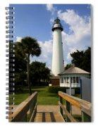 St. Simon's Island Georgia Lighthouse Painted Spiral Notebook