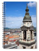 St Stephen's Basilica Bell Tower In Budapest Spiral Notebook