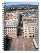 St Stephen's Square In Budapest Spiral Notebook