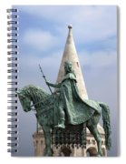 St Stephen's Statue In Budapest Spiral Notebook