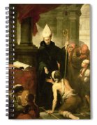 St. Thomas Of Villanueva Distributing Alms, 1678 Oil On Canvas Spiral Notebook
