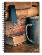 Stack Of Vintage Books Spiral Notebook