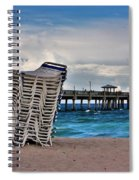 Stacked Beach Chairs Spiral Notebook