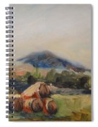 Stacked Hay Bales Spiral Notebook