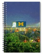 Stadium At Night Spiral Notebook