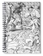 Stag Hunters, 15th Century Spiral Notebook