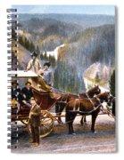 Stagecoach Near Upper Falls Spiral Notebook