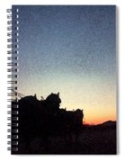 Stagecoach Riding Off Into The Sunset Spiral Notebook