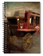 Stagecoach West Sepia Textured Spiral Notebook