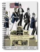 Stages Of A Mans Life  1848 Spiral Notebook