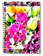 Stain Glass Framed Florals Spiral Notebook