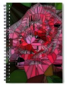 Stain Glass Rose Spiral Notebook
