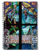 Stained Galss Window In St Vitus Spiral Notebook