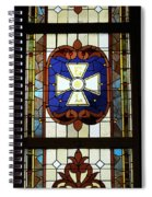 Stained Glass 3 Panel Vertical Composite 01 Spiral Notebook