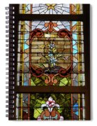 Stained Glass 3 Panel Vertical Composite 02 Spiral Notebook