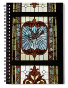 Stained Glass 3 Panel Vertical Composite 03 Spiral Notebook