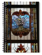 Stained Glass 3 Panel Vertical Composite 04 Spiral Notebook