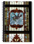 Stained Glass 3 Panel Vertical Composite 05 Spiral Notebook