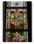 Stained Glass 3 Panel Vertical Composite 06 Spiral Notebook