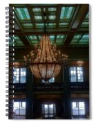 Stained Glass And Chandelier  Spiral Notebook