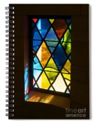 Stained Glass Spiral Notebook