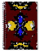 Stained Glass Art Abstract Spiral Notebook