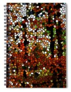 Stained Glass Autumn Colors In The Forest  Spiral Notebook