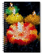 Stained Glass Candle 1 Spiral Notebook