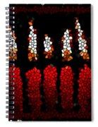Stained Glass Candle Spiral Notebook