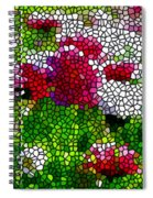Stained Glass Chrysanthemum Flowers Spiral Notebook