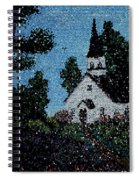 Stained Glass Church Scene Spiral Notebook