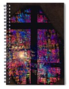 Stained Glass Cross Spiral Notebook