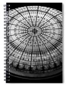 Stained Glass Dome - Bw Spiral Notebook