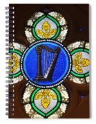 Stained Glass Harp Spiral Notebook