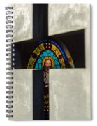 Stained Glass In A Tomb Spiral Notebook