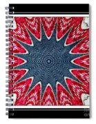Stained Glass Lace - Kaleidoscope Spiral Notebook