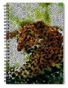 Stained Glass Leopard 2 Spiral Notebook