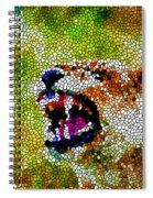 Stained Glass Leopard 3 Spiral Notebook